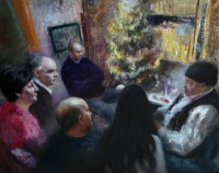 Christmas, 95x125cm, oil, Sojka